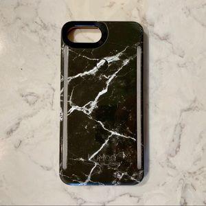 Black Marble LuMee Duo iPhone 8 Plus case